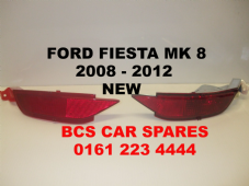 FORD FIESTA  MK 8   REAR LIGHT + REFLECTOR LENS   DRIVER + PASSENGER SIDE  PAIR  2008  2009  2010  2011  2012    NEW (2)